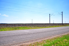 Strada principale vuota   Fotografia Stock