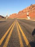 Strada principale vuota nell'Utah fotografia stock libera da diritti