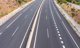 Strada principale vuota in Spagna Fotografia Stock