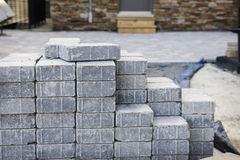 Strada privata di pietra di collegamento Immagine Stock Libera da Diritti