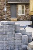 Strada privata di pietra di collegamento Fotografie Stock