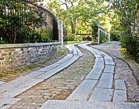 Strada privata in forma di s Immagine Stock