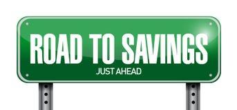 Strada a progettazione dell'illustrazione del segno di risparmio Fotografie Stock Libere da Diritti