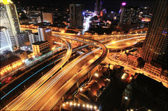 Strada rapida urbana Fotografia Stock Libera da Diritti