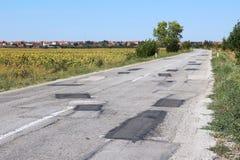 Strada rattoppata Immagine Stock