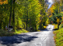 Strada residenziale rurale immagini stock libere da diritti