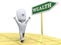 Strada a ricchezza Immagini Stock
