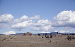 Strada in Rocky Mountains fotografia stock