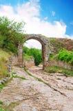 Strada romana antica Fotografia Stock