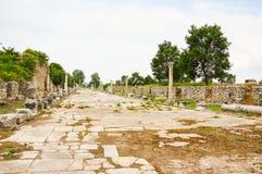 Strada romana antica Fotografia Stock Libera da Diritti