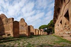 Strada romana, Ostia Antica, Italia fotografia stock libera da diritti