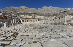 Strada romana in Sagalassos Immagine Stock Libera da Diritti