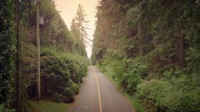 Strada rurale al tramonto stock footage