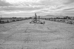 Strada rurale del deserto Fotografia Stock Libera da Diritti