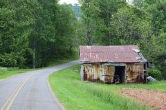Strada rurale del fam della montagna occidentale di NC fotografia stock