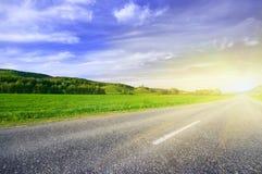 Strada rurale dell'asfalto Fotografia Stock