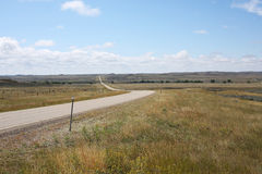 Strada rurale nel Montana, U.S.A. immagine stock