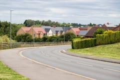 Strada rurale tipica in Inghilterra fotografie stock