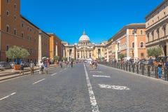 Strada a San Pietro Rome Fotografie Stock