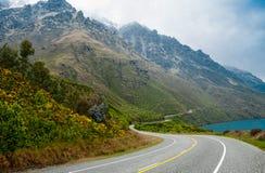 Strada scenica della Nuova Zelanda Fotografie Stock