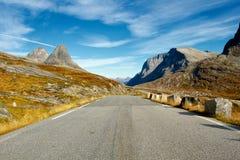 Strada scenica di Trollstigen in Norvegia Immagini Stock Libere da Diritti