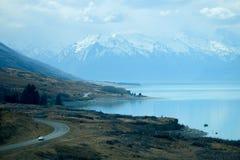 Strada scenica in Nuova Zelanda fotografia stock
