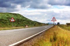 Strada in Scozia, estate Fotografia Stock