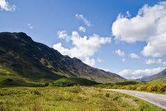 Strada scozzese Fotografie Stock Libere da Diritti