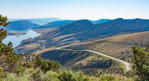 Strada secondaria scenica di Green River della gola ardente nell'Utah orientale del nord Immagine Stock Libera da Diritti