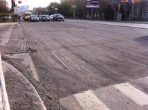 Strada senza asfalto Immagine Stock