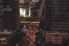 Strada senza fili, Bangkok Fotografia Stock Libera da Diritti