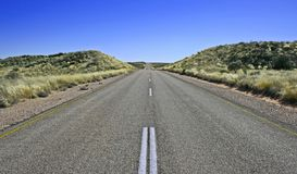 Strada senza fine Fotografie Stock
