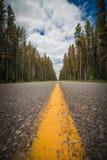 Strada senza fine nel Canada Fotografia Stock