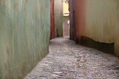 Strada Sforii - Brasov, Rumania Fotos de archivo libres de regalías