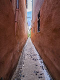 Strada Sforii. Rope Street is the narrowest street in Brasov, Romania, and one of the narrowest in the whole Europe, with a width between 111 and 135 Royalty Free Stock Photography