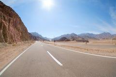 Strada a Sharm el-Sheikh, Egitto, Sinai del sud fotografia stock