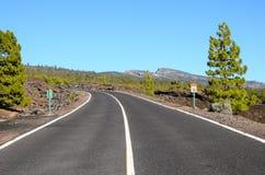 Strada sola lunga Immagini Stock
