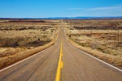 Strada solitaria del deserto fotografia stock libera da diritti