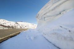 Strada sopra Hallingskarvet in Norvegia Fotografia Stock