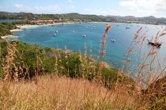 Strada soprelevata all'isola del piccione, St Lucia Immagini Stock
