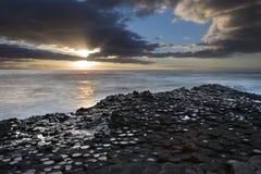 Strada soprelevata di Giants - contea Antrim - Irlanda del Nord fotografia stock libera da diritti