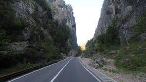 Strada spettacolare in Romania stock footage