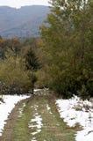 Strada sporca nelle montagne Fotografie Stock