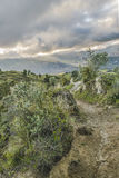 Strada sporca Quilotoa, Latacunga, Ecuador Fotografie Stock