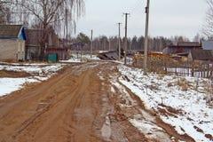 Strada sporca a terra rurale Immagini Stock