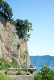 Strada Statale 227 dichtbij Santa Margherita Ligure, Italië Stock Foto's