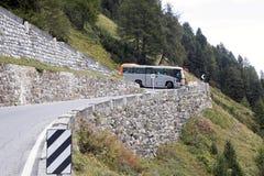 Strada Stelvio, alpi italiane, Italia della curvatura di Cawkward Fotografia Stock Libera da Diritti