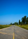 Strada stradale asfaltata Fotografia Stock