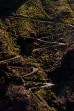 Strada su Pico de las Nieves fotografia stock libera da diritti