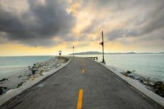 Strada sul mare Fotografia Stock